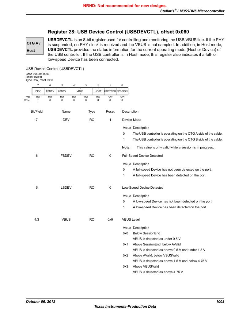 LM3S9BN6-IBZ80-C3T ,Texas Instruments厂商,IC ARM CORTEX MCU 256KB 108NFBGA, LM3S9BN6-IBZ80-C3T datasheet预览  第1003页