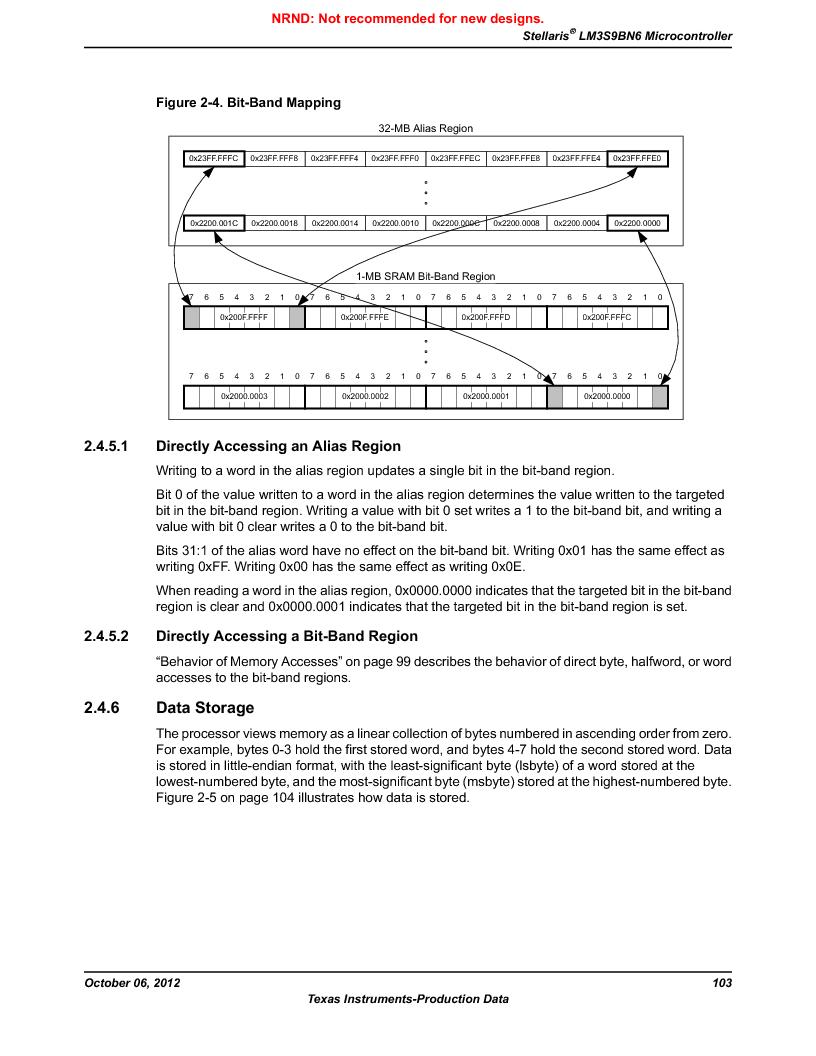 LM3S9BN6-IBZ80-C3T ,Texas Instruments厂商,IC ARM CORTEX MCU 256KB 108NFBGA, LM3S9BN6-IBZ80-C3T datasheet预览  第103页
