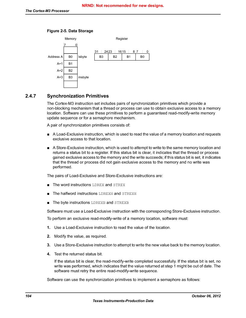 LM3S9BN6-IBZ80-C3T ,Texas Instruments厂商,IC ARM CORTEX MCU 256KB 108NFBGA, LM3S9BN6-IBZ80-C3T datasheet预览  第104页