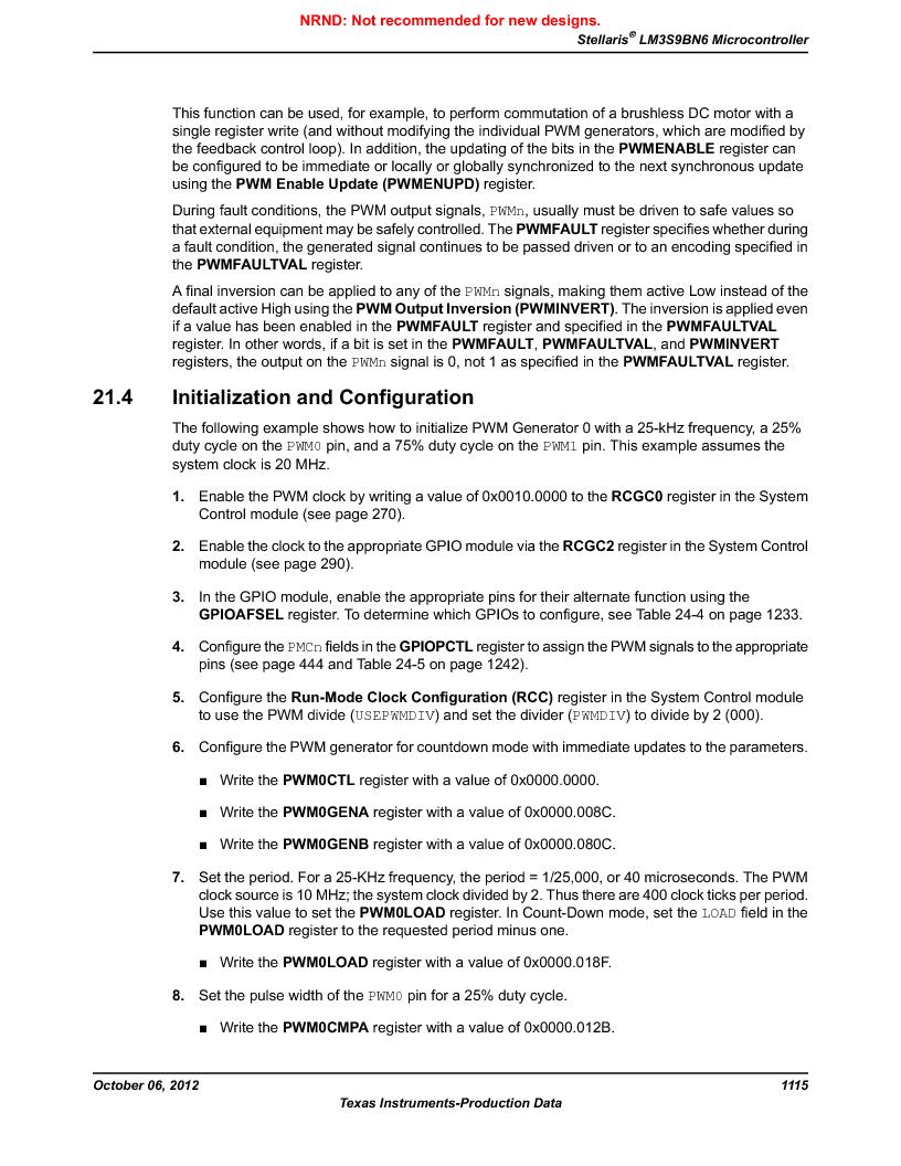 LM3S9BN6-IBZ80-C3T ,Texas Instruments厂商,IC ARM CORTEX MCU 256KB 108NFBGA, LM3S9BN6-IBZ80-C3T datasheet预览  第1115页