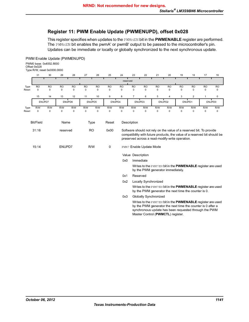 LM3S9BN6-IBZ80-C3T ,Texas Instruments厂商,IC ARM CORTEX MCU 256KB 108NFBGA, LM3S9BN6-IBZ80-C3T datasheet预览  第1141页