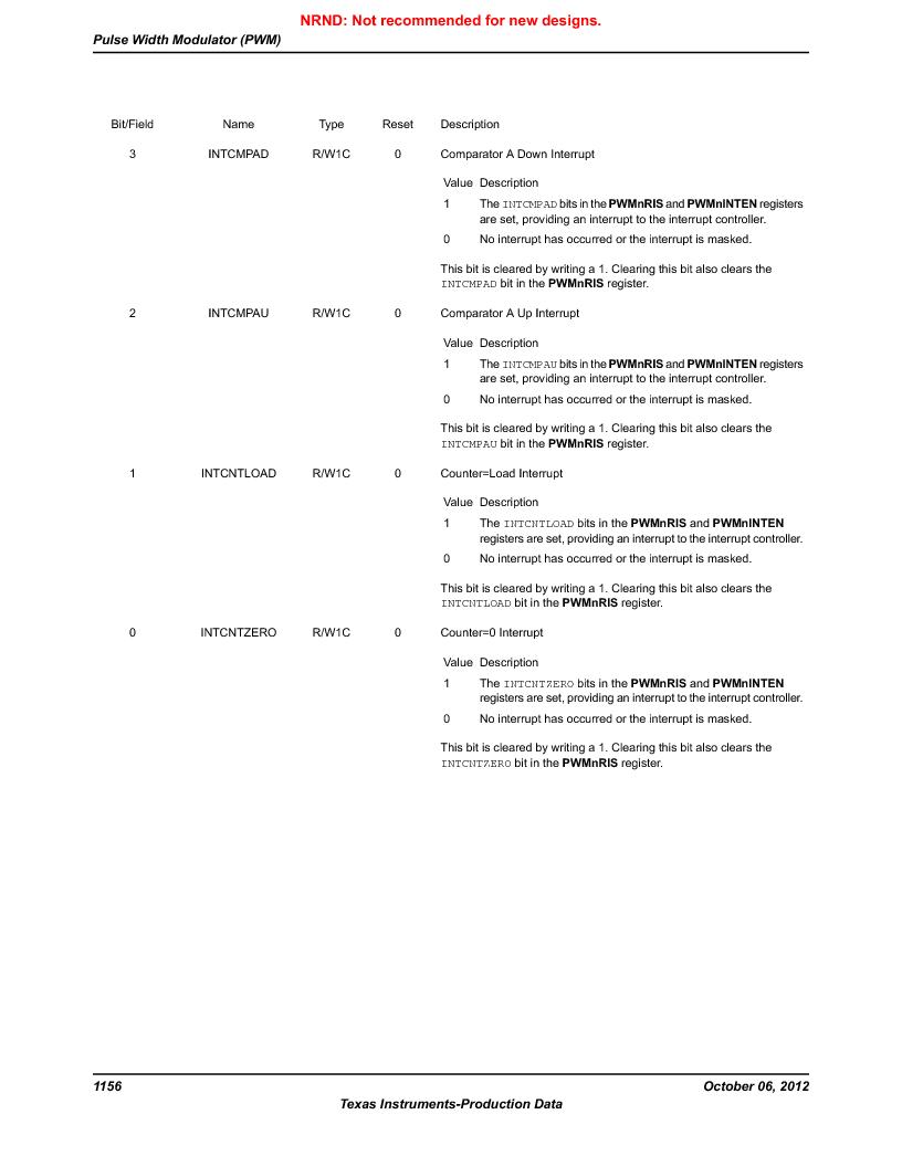 LM3S9BN6-IBZ80-C3T ,Texas Instruments厂商,IC ARM CORTEX MCU 256KB 108NFBGA, LM3S9BN6-IBZ80-C3T datasheet预览  第1156页