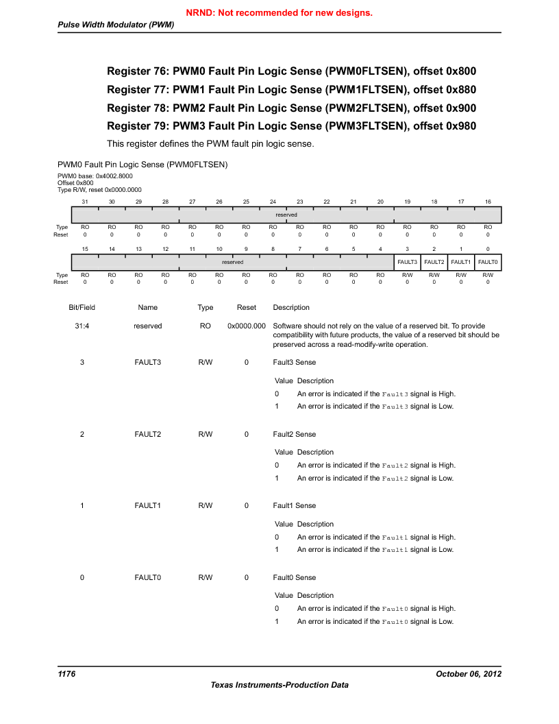 LM3S9BN6-IBZ80-C3T ,Texas Instruments厂商,IC ARM CORTEX MCU 256KB 108NFBGA, LM3S9BN6-IBZ80-C3T datasheet预览  第1176页