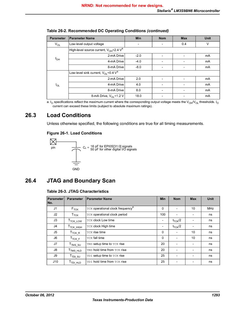 LM3S9BN6-IBZ80-C3T ,Texas Instruments厂商,IC ARM CORTEX MCU 256KB 108NFBGA, LM3S9BN6-IBZ80-C3T datasheet预览  第1293页