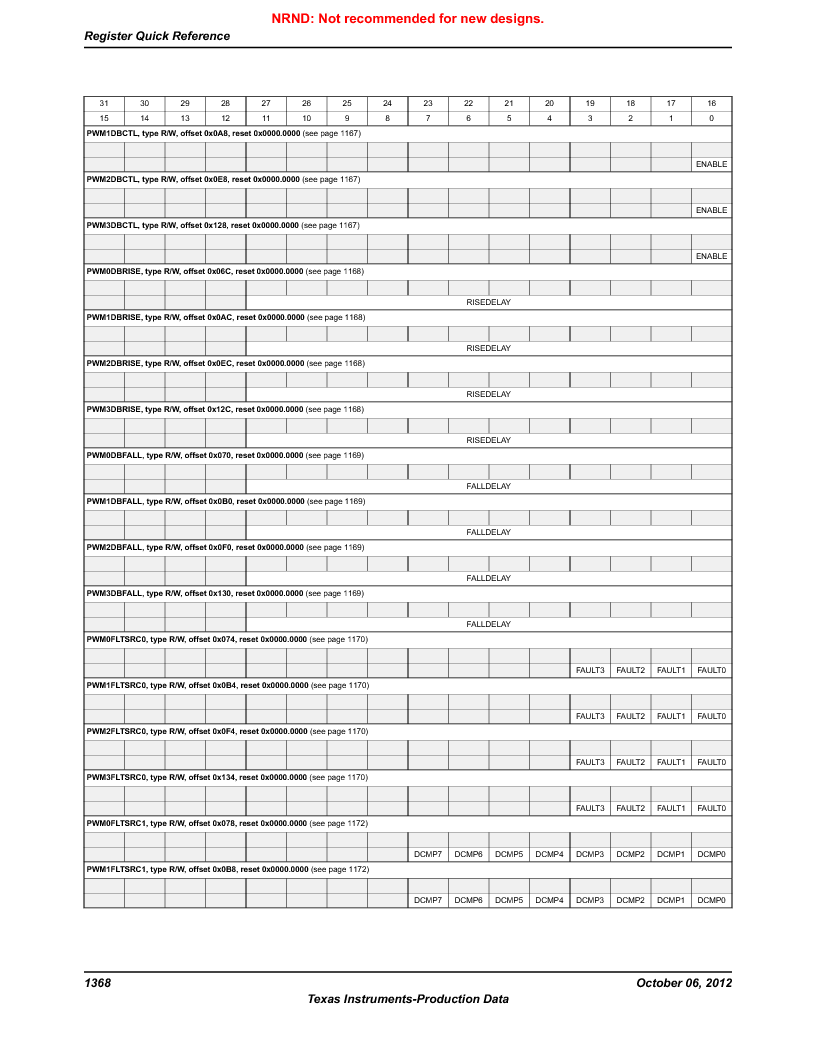 LM3S9BN6-IBZ80-C3T ,Texas Instruments厂商,IC ARM CORTEX MCU 256KB 108NFBGA, LM3S9BN6-IBZ80-C3T datasheet预览  第1368页