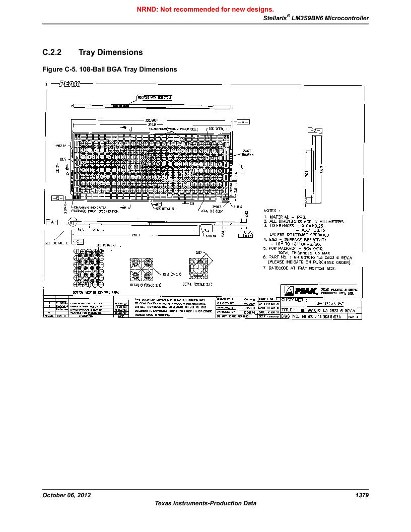 LM3S9BN6-IBZ80-C3T ,Texas Instruments厂商,IC ARM CORTEX MCU 256KB 108NFBGA, LM3S9BN6-IBZ80-C3T datasheet预览  第1379页