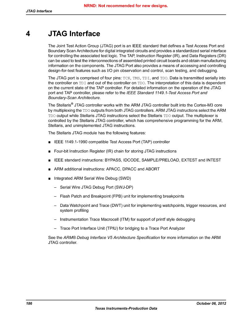 LM3S9BN6-IBZ80-C3T ,Texas Instruments厂商,IC ARM CORTEX MCU 256KB 108NFBGA, LM3S9BN6-IBZ80-C3T datasheet预览  第186页