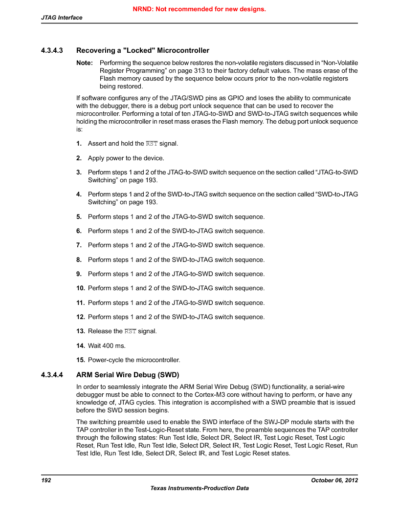 LM3S9BN6-IBZ80-C3T ,Texas Instruments厂商,IC ARM CORTEX MCU 256KB 108NFBGA, LM3S9BN6-IBZ80-C3T datasheet预览  第192页