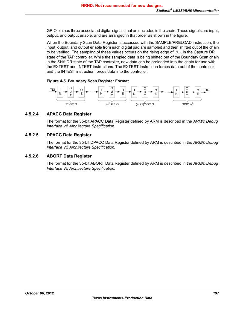 LM3S9BN6-IBZ80-C3T ,Texas Instruments厂商,IC ARM CORTEX MCU 256KB 108NFBGA, LM3S9BN6-IBZ80-C3T datasheet预览  第197页