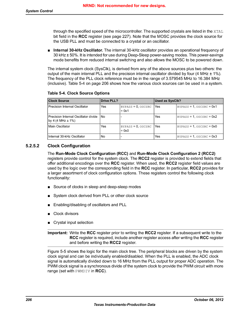 LM3S9BN6-IBZ80-C3T ,Texas Instruments厂商,IC ARM CORTEX MCU 256KB 108NFBGA, LM3S9BN6-IBZ80-C3T datasheet预览  第206页