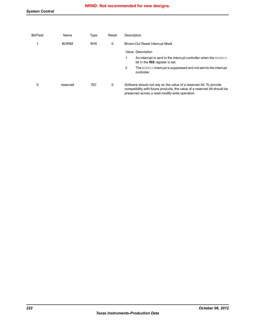LM3S9BN6-IBZ80-C3T ,Texas Instruments厂商,IC ARM CORTEX MCU 256KB 108NFBGA, LM3S9BN6-IBZ80-C3T datasheet预览  第222页