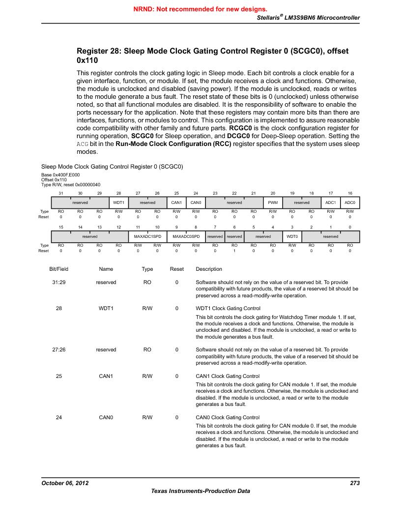 LM3S9BN6-IBZ80-C3T ,Texas Instruments厂商,IC ARM CORTEX MCU 256KB 108NFBGA, LM3S9BN6-IBZ80-C3T datasheet预览  第273页