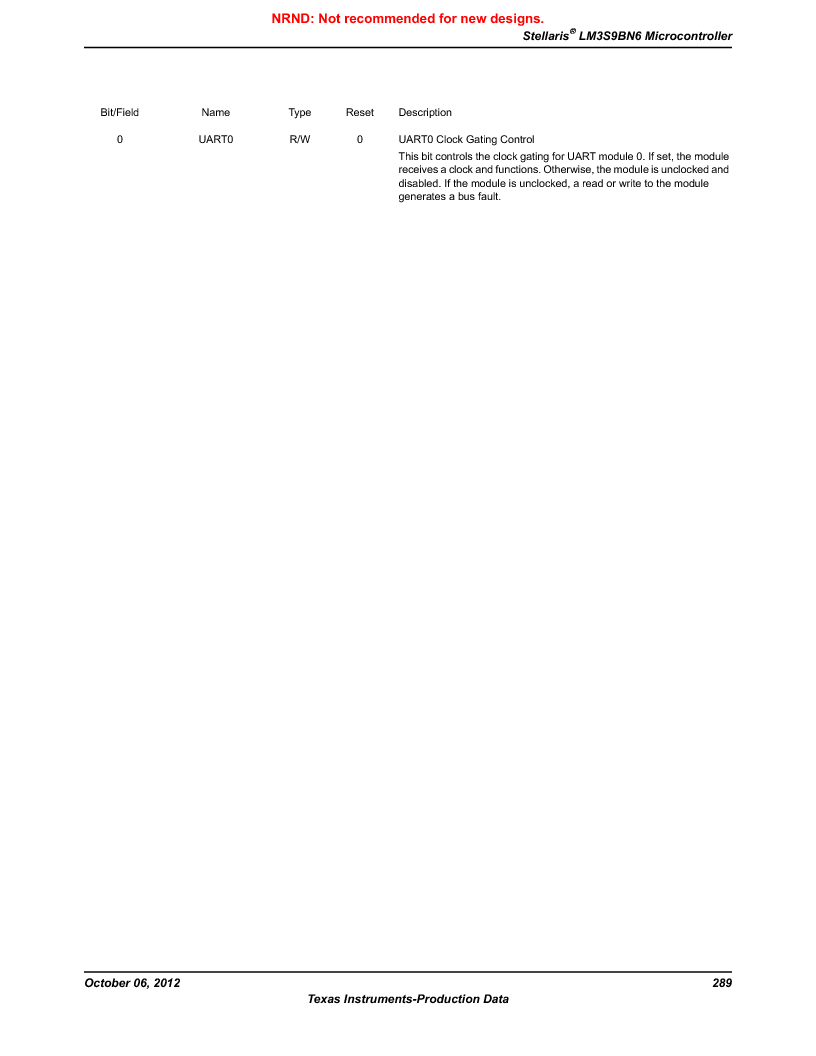 LM3S9BN6-IBZ80-C3T ,Texas Instruments厂商,IC ARM CORTEX MCU 256KB 108NFBGA, LM3S9BN6-IBZ80-C3T datasheet预览  第289页