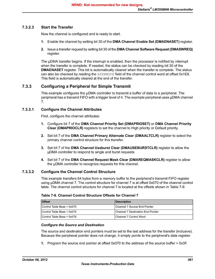 LM3S9BN6-IBZ80-C3T ,Texas Instruments厂商,IC ARM CORTEX MCU 256KB 108NFBGA, LM3S9BN6-IBZ80-C3T datasheet预览  第361页