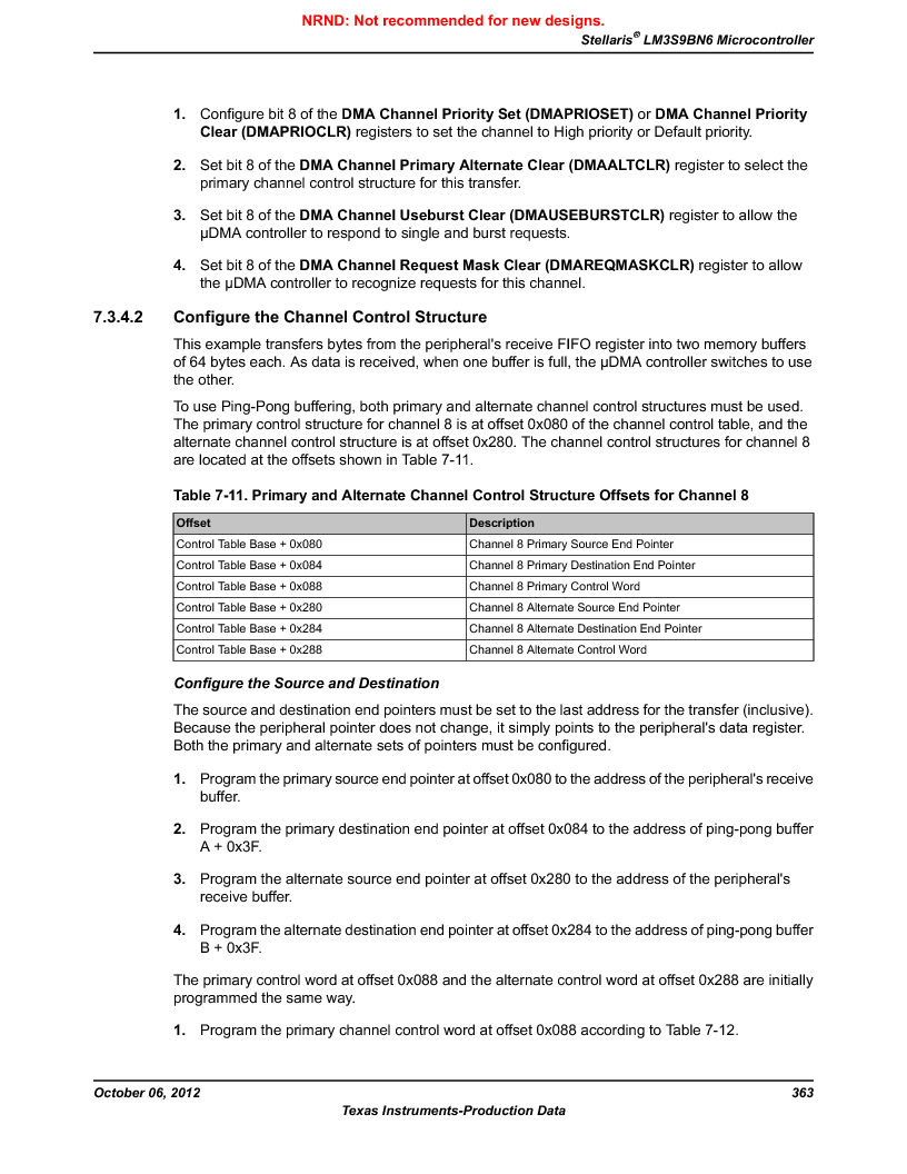 LM3S9BN6-IBZ80-C3T ,Texas Instruments厂商,IC ARM CORTEX MCU 256KB 108NFBGA, LM3S9BN6-IBZ80-C3T datasheet预览  第363页