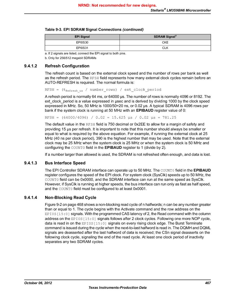 LM3S9BN6-IBZ80-C3T ,Texas Instruments厂商,IC ARM CORTEX MCU 256KB 108NFBGA, LM3S9BN6-IBZ80-C3T datasheet预览  第467页