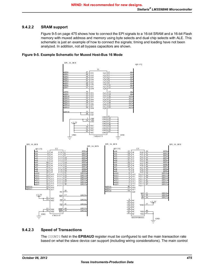 LM3S9BN6-IBZ80-C3T ,Texas Instruments厂商,IC ARM CORTEX MCU 256KB 108NFBGA, LM3S9BN6-IBZ80-C3T datasheet预览  第475页