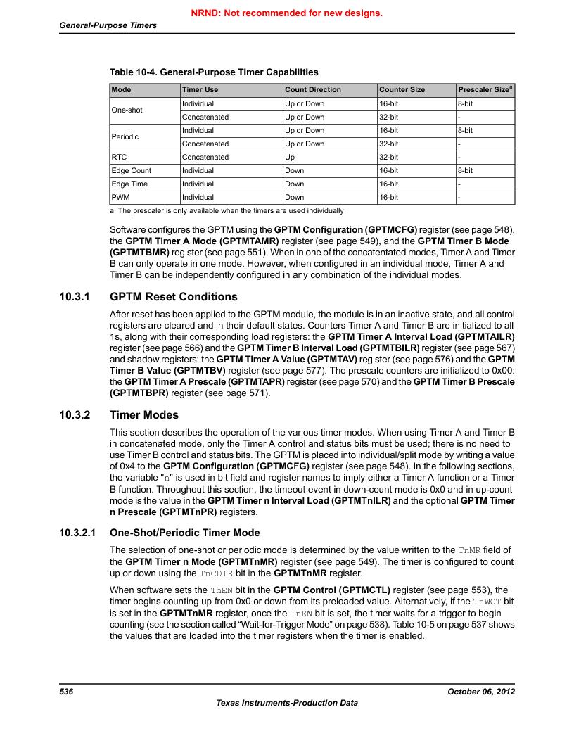 LM3S9BN6-IBZ80-C3T ,Texas Instruments厂商,IC ARM CORTEX MCU 256KB 108NFBGA, LM3S9BN6-IBZ80-C3T datasheet预览  第536页