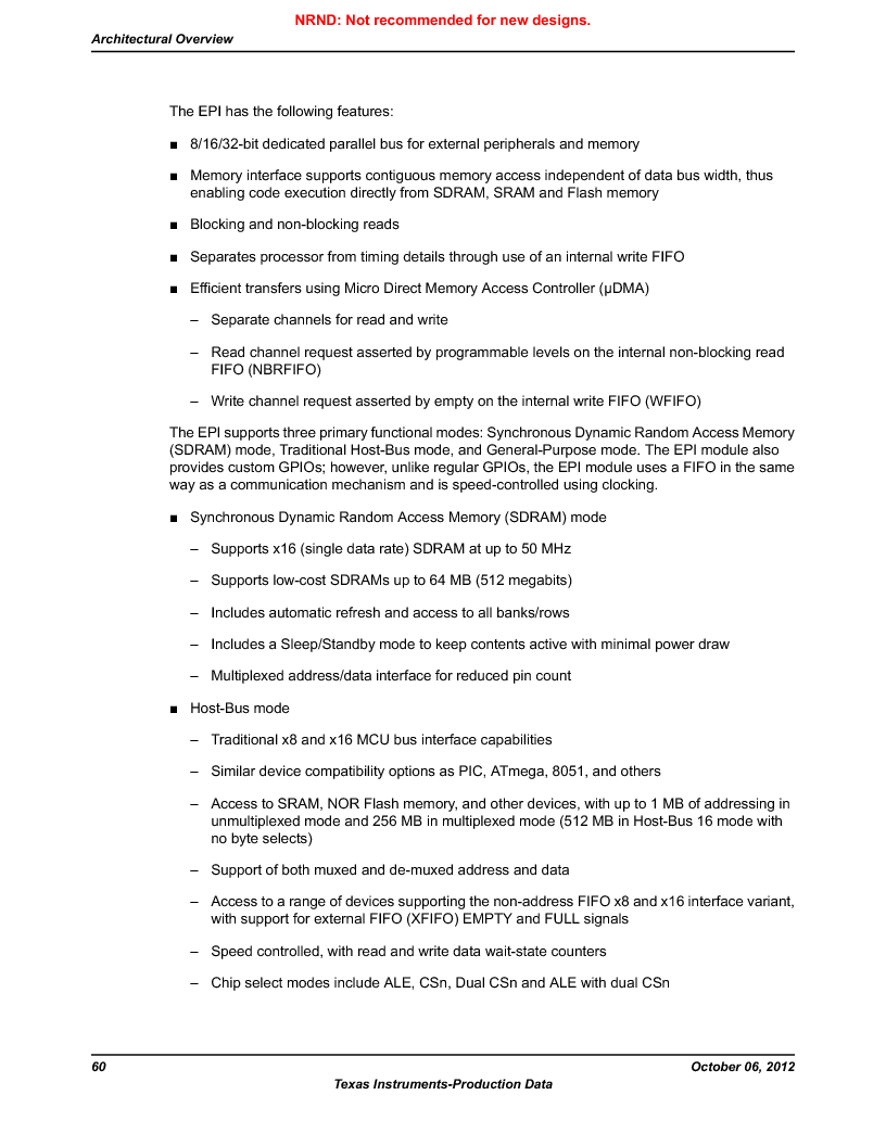 LM3S9BN6-IBZ80-C3T ,Texas Instruments厂商,IC ARM CORTEX MCU 256KB 108NFBGA, LM3S9BN6-IBZ80-C3T datasheet预览  第60页