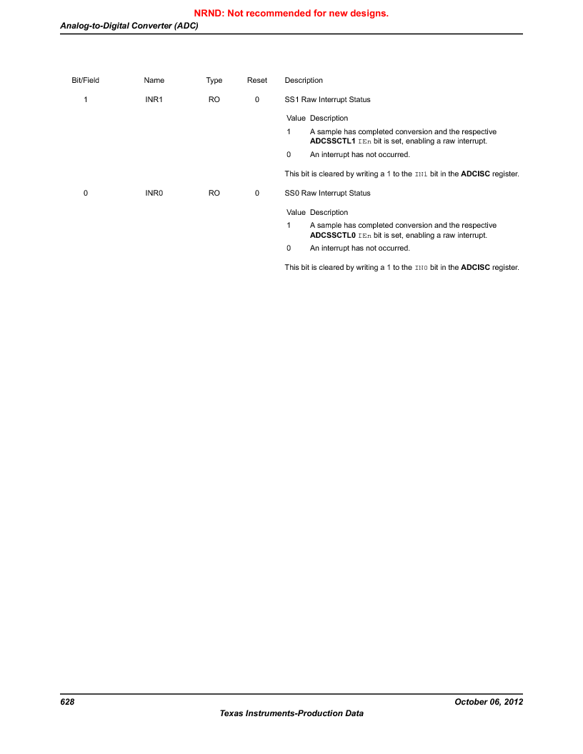 LM3S9BN6-IBZ80-C3T ,Texas Instruments厂商,IC ARM CORTEX MCU 256KB 108NFBGA, LM3S9BN6-IBZ80-C3T datasheet预览  第628页