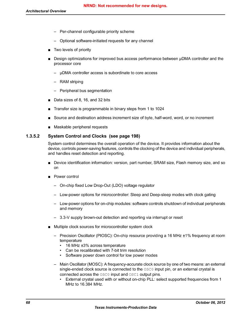 LM3S9BN6-IBZ80-C3T ,Texas Instruments厂商,IC ARM CORTEX MCU 256KB 108NFBGA, LM3S9BN6-IBZ80-C3T datasheet预览  第68页