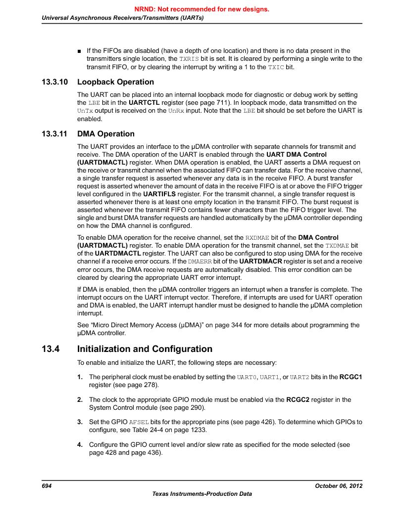 LM3S9BN6-IBZ80-C3T ,Texas Instruments厂商,IC ARM CORTEX MCU 256KB 108NFBGA, LM3S9BN6-IBZ80-C3T datasheet预览  第694页