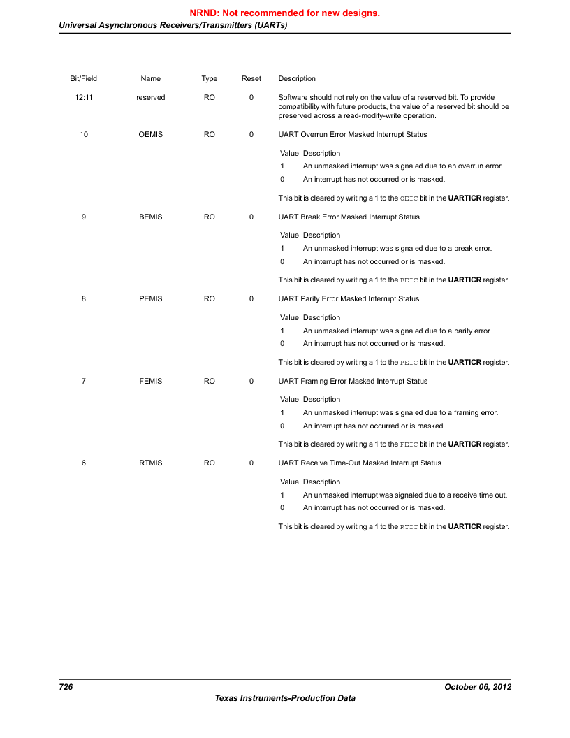 LM3S9BN6-IBZ80-C3T ,Texas Instruments厂商,IC ARM CORTEX MCU 256KB 108NFBGA, LM3S9BN6-IBZ80-C3T datasheet预览  第726页