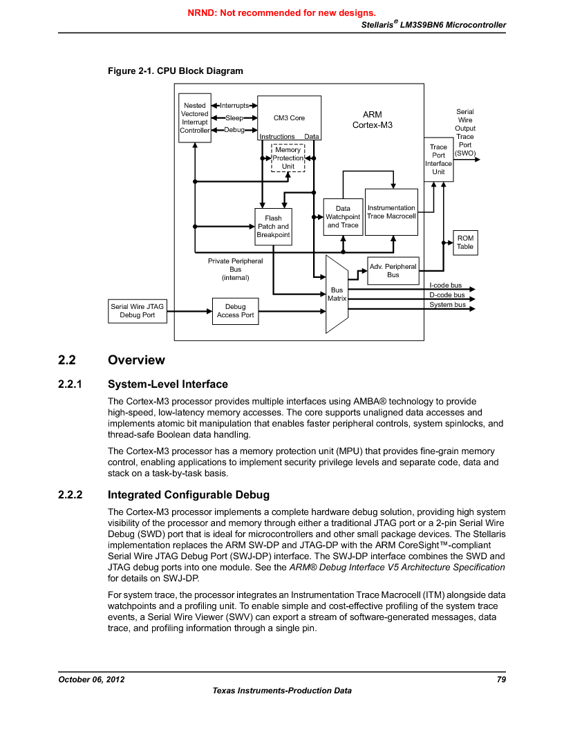LM3S9BN6-IBZ80-C3T ,Texas Instruments厂商,IC ARM CORTEX MCU 256KB 108NFBGA, LM3S9BN6-IBZ80-C3T datasheet预览  第79页