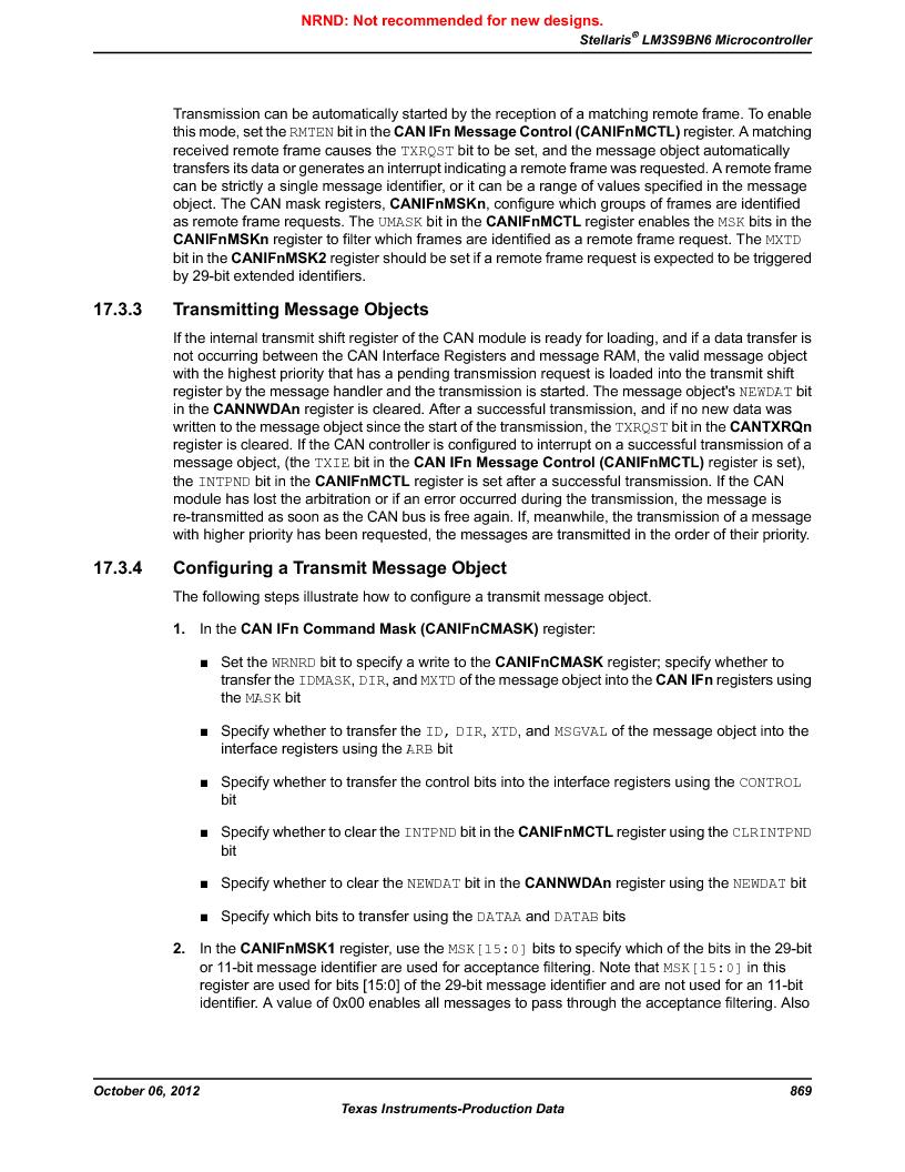 LM3S9BN6-IBZ80-C3T ,Texas Instruments厂商,IC ARM CORTEX MCU 256KB 108NFBGA, LM3S9BN6-IBZ80-C3T datasheet预览  第869页