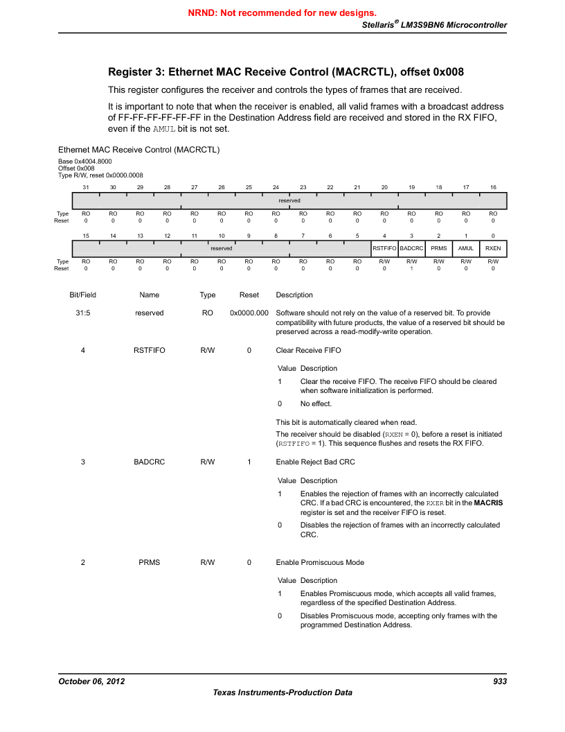 LM3S9BN6-IBZ80-C3T ,Texas Instruments厂商,IC ARM CORTEX MCU 256KB 108NFBGA, LM3S9BN6-IBZ80-C3T datasheet预览  第933页