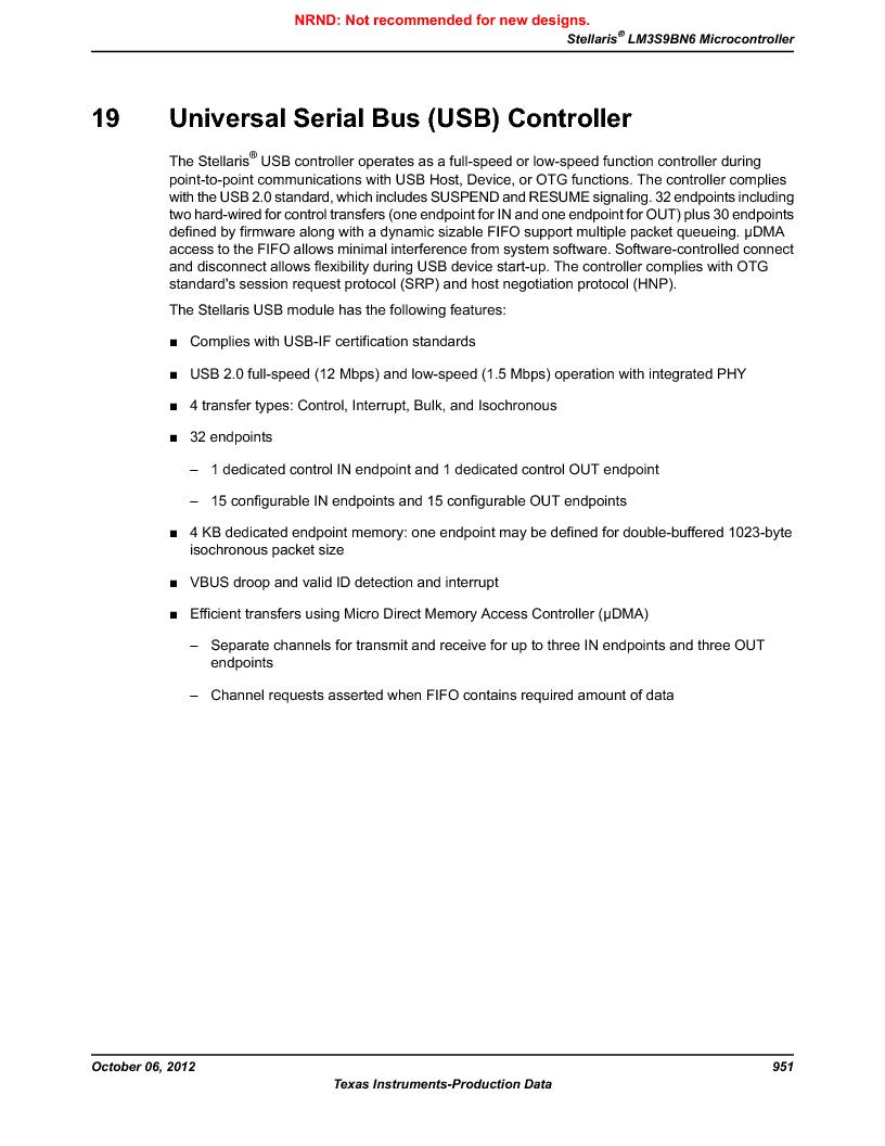 LM3S9BN6-IBZ80-C3T ,Texas Instruments厂商,IC ARM CORTEX MCU 256KB 108NFBGA, LM3S9BN6-IBZ80-C3T datasheet预览  第951页