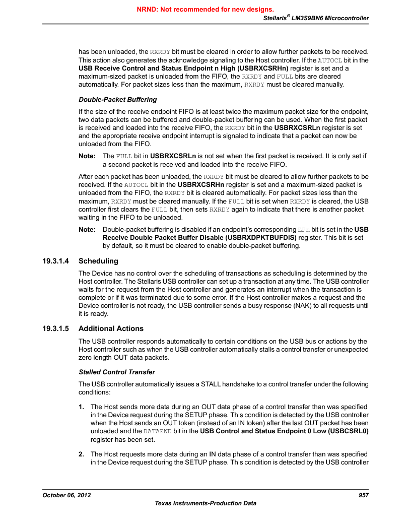 LM3S9BN6-IBZ80-C3T ,Texas Instruments厂商,IC ARM CORTEX MCU 256KB 108NFBGA, LM3S9BN6-IBZ80-C3T datasheet预览  第957页