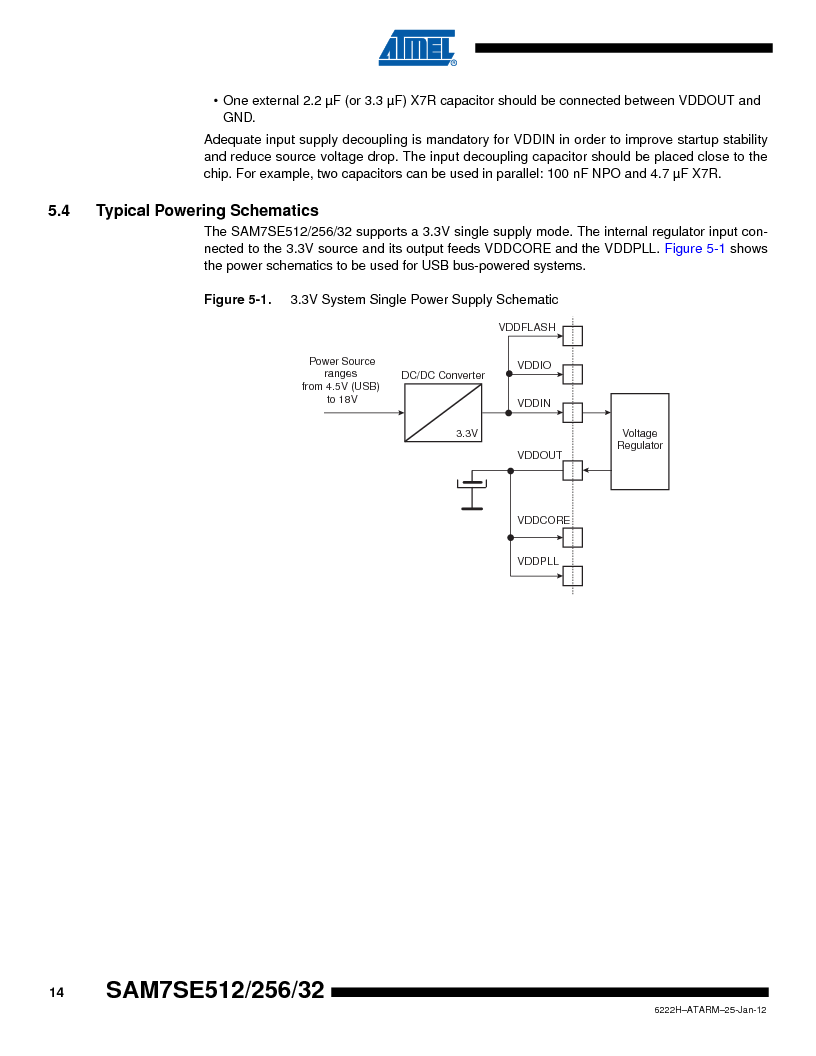 AT91SAM7SE256B-CUR ,Atmel厂商,IC ARM7 MCU FLASH 256K 128-LQFP, AT91SAM7SE256B-CUR datasheet预览  第14页