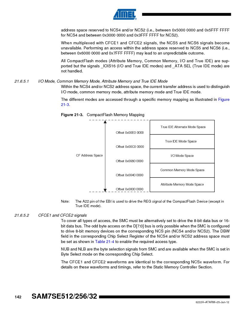 AT91SAM7SE256B-CUR ,Atmel厂商,IC ARM7 MCU FLASH 256K 128-LQFP, AT91SAM7SE256B-CUR datasheet预览  第142页