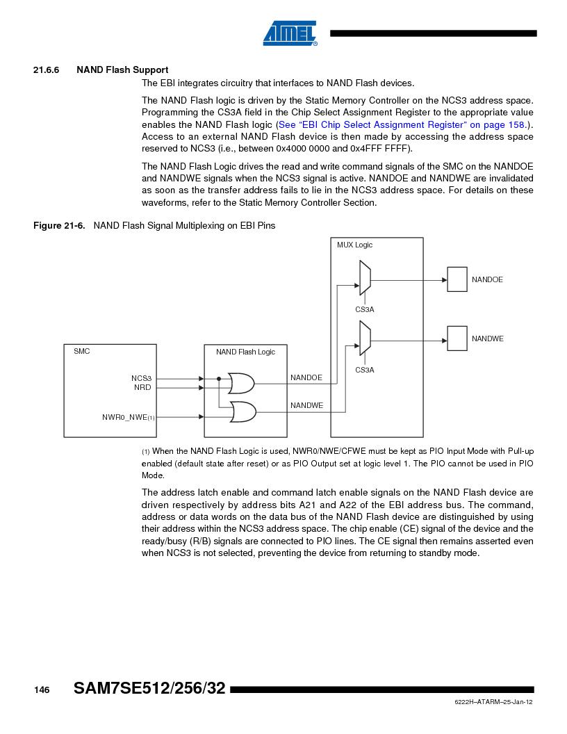 AT91SAM7SE256B-CUR ,Atmel厂商,IC ARM7 MCU FLASH 256K 128-LQFP, AT91SAM7SE256B-CUR datasheet预览  第146页