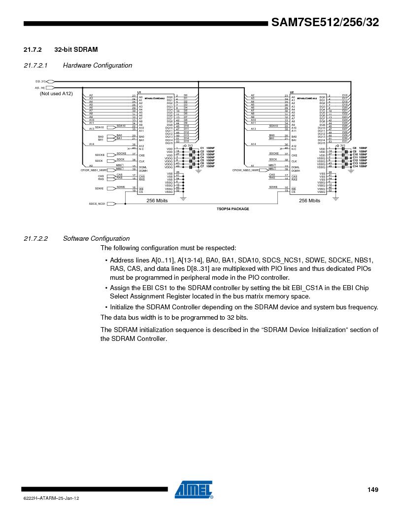 AT91SAM7SE256B-CUR ,Atmel厂商,IC ARM7 MCU FLASH 256K 128-LQFP, AT91SAM7SE256B-CUR datasheet预览  第149页