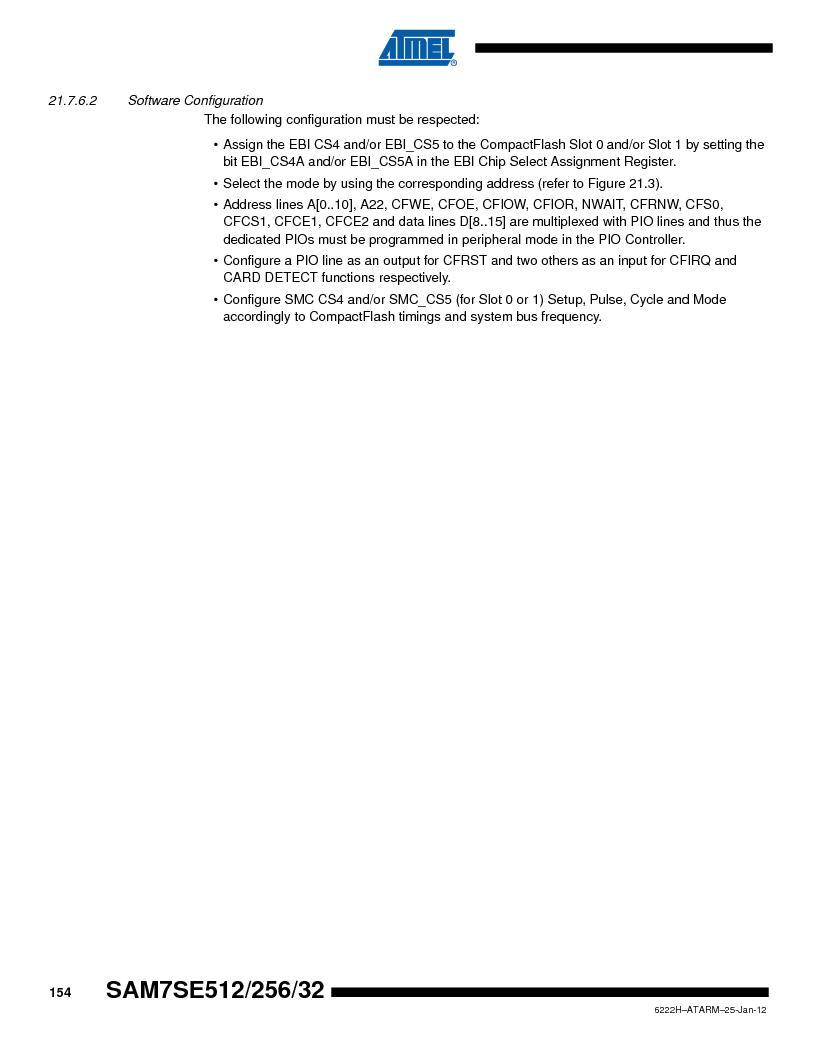AT91SAM7SE256B-CUR ,Atmel厂商,IC ARM7 MCU FLASH 256K 128-LQFP, AT91SAM7SE256B-CUR datasheet预览  第154页