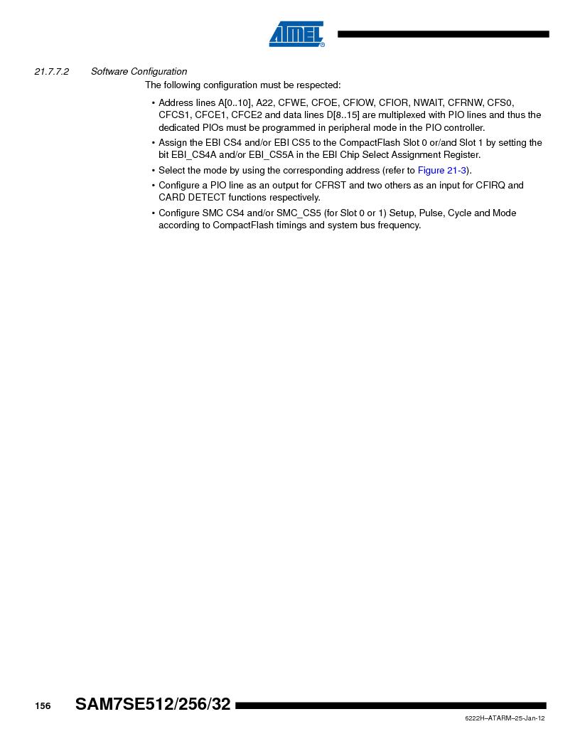 AT91SAM7SE256B-CUR ,Atmel厂商,IC ARM7 MCU FLASH 256K 128-LQFP, AT91SAM7SE256B-CUR datasheet预览  第156页