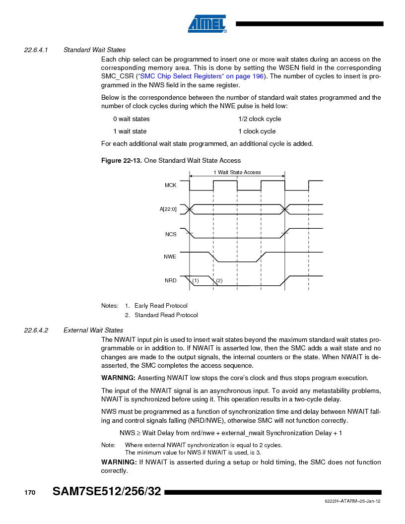 AT91SAM7SE256B-CUR ,Atmel厂商,IC ARM7 MCU FLASH 256K 128-LQFP, AT91SAM7SE256B-CUR datasheet预览  第170页