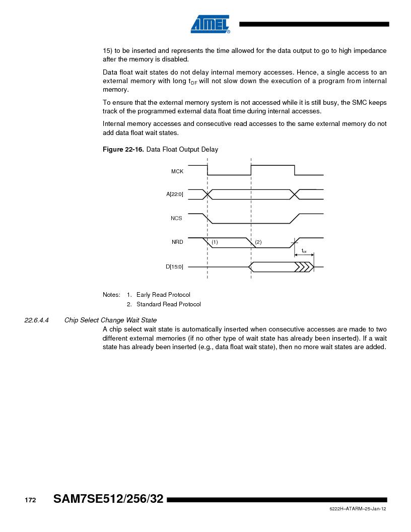 AT91SAM7SE256B-CUR ,Atmel厂商,IC ARM7 MCU FLASH 256K 128-LQFP, AT91SAM7SE256B-CUR datasheet预览  第172页