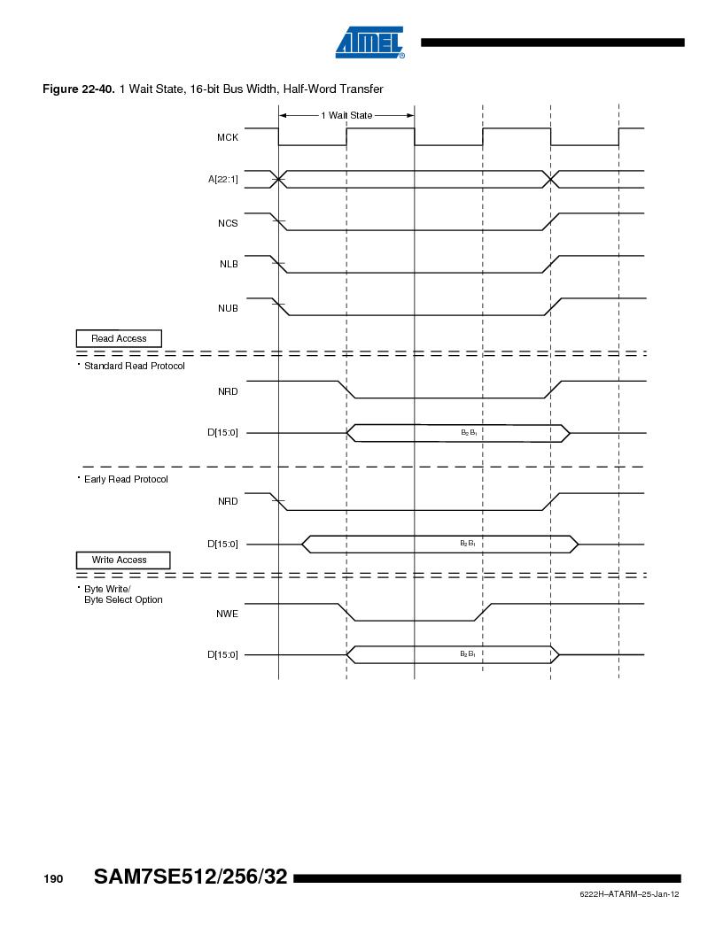 AT91SAM7SE256B-CUR ,Atmel厂商,IC ARM7 MCU FLASH 256K 128-LQFP, AT91SAM7SE256B-CUR datasheet预览  第190页