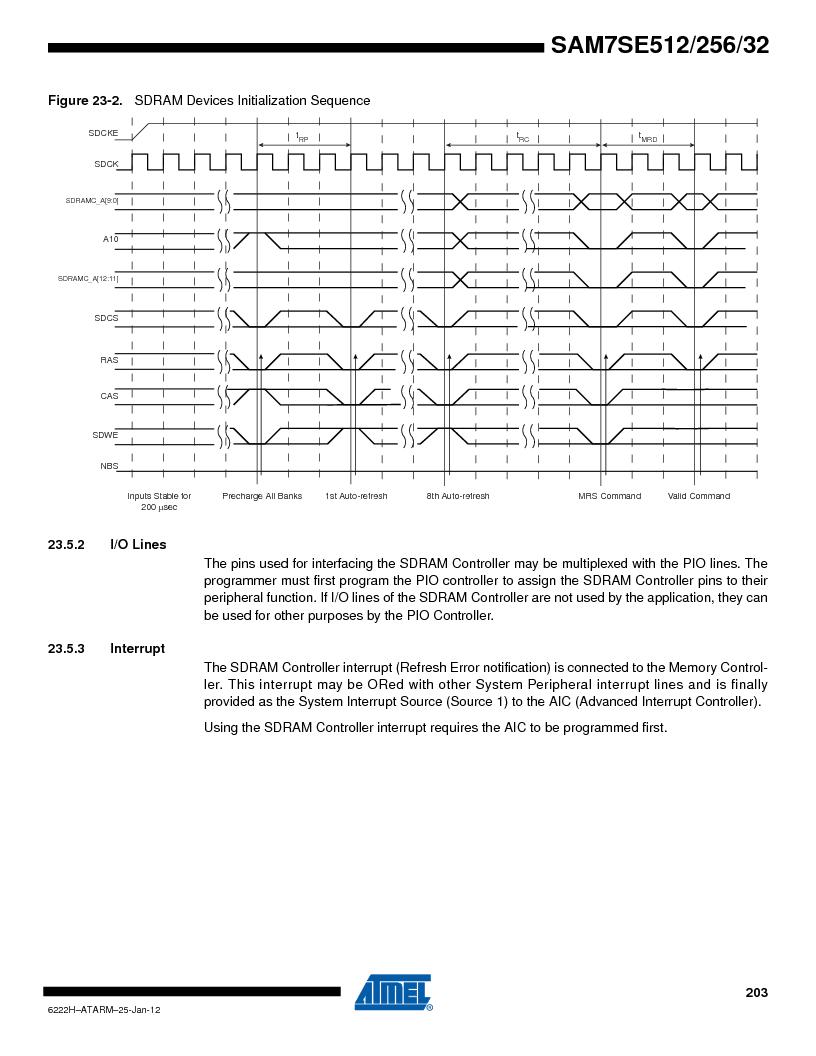 AT91SAM7SE256B-CUR ,Atmel厂商,IC ARM7 MCU FLASH 256K 128-LQFP, AT91SAM7SE256B-CUR datasheet预览  第203页