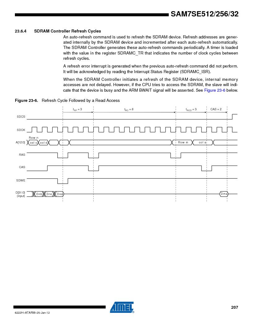 AT91SAM7SE256B-CUR ,Atmel厂商,IC ARM7 MCU FLASH 256K 128-LQFP, AT91SAM7SE256B-CUR datasheet预览  第207页
