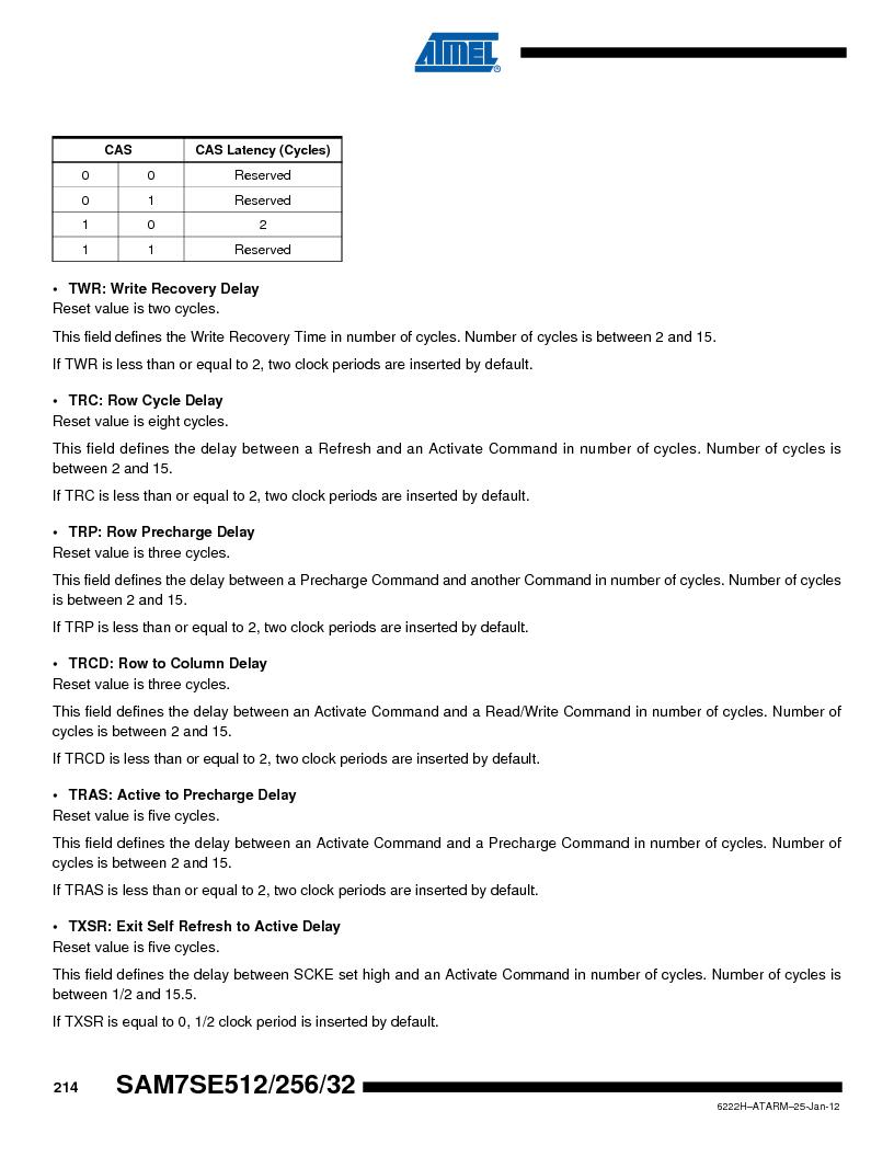 AT91SAM7SE256B-CUR ,Atmel厂商,IC ARM7 MCU FLASH 256K 128-LQFP, AT91SAM7SE256B-CUR datasheet预览  第214页