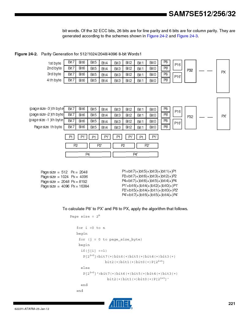 AT91SAM7SE256B-CUR ,Atmel厂商,IC ARM7 MCU FLASH 256K 128-LQFP, AT91SAM7SE256B-CUR datasheet预览  第221页