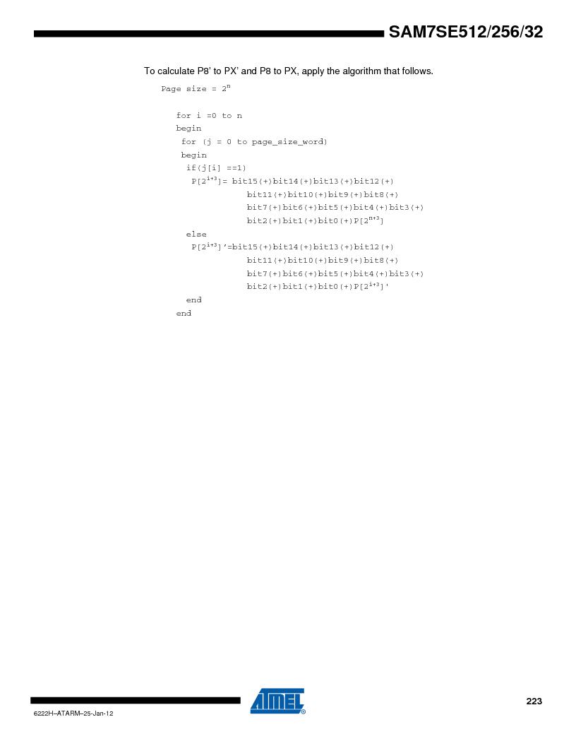 AT91SAM7SE256B-CUR ,Atmel厂商,IC ARM7 MCU FLASH 256K 128-LQFP, AT91SAM7SE256B-CUR datasheet预览  第223页