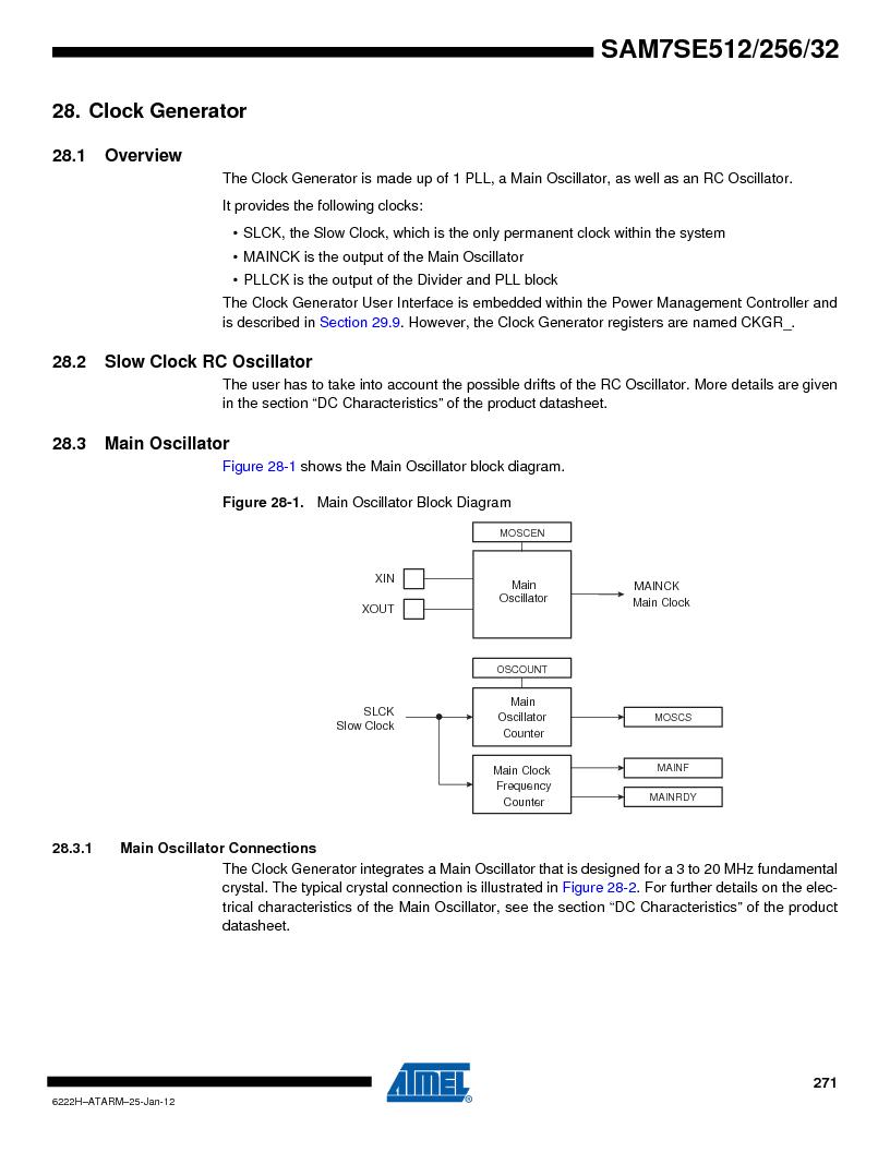 AT91SAM7SE256B-CUR ,Atmel厂商,IC ARM7 MCU FLASH 256K 128-LQFP, AT91SAM7SE256B-CUR datasheet预览  第271页