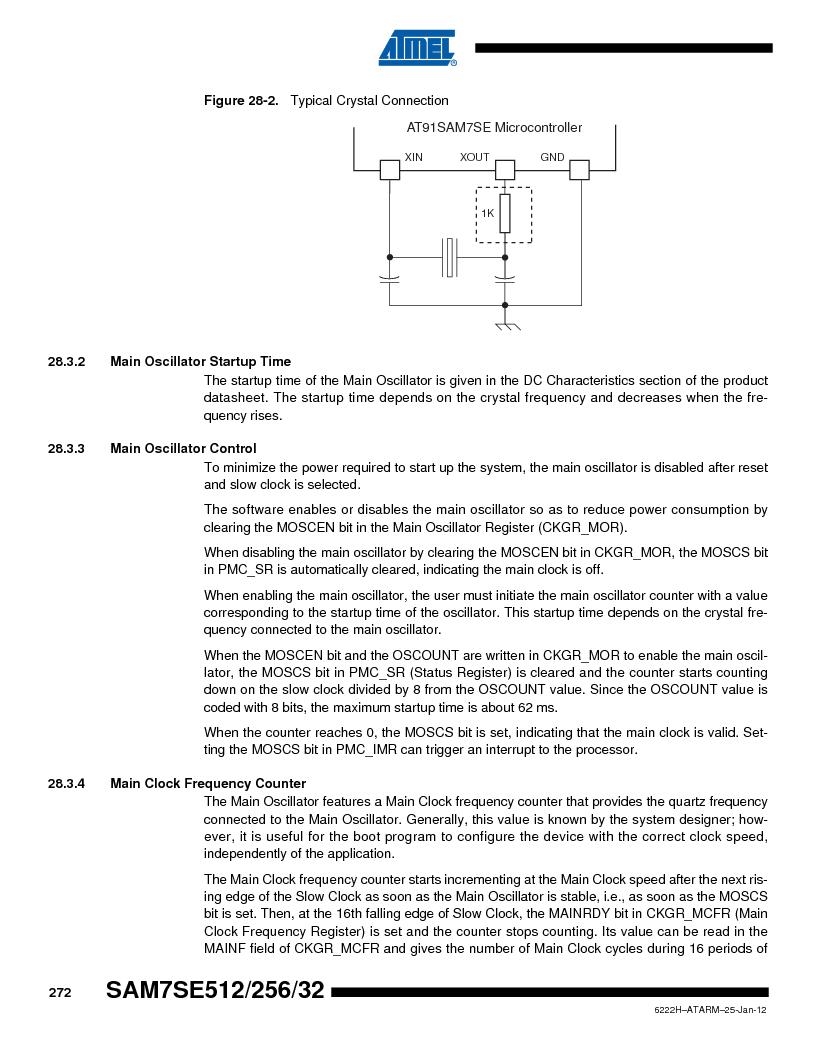 AT91SAM7SE256B-CUR ,Atmel厂商,IC ARM7 MCU FLASH 256K 128-LQFP, AT91SAM7SE256B-CUR datasheet预览  第272页