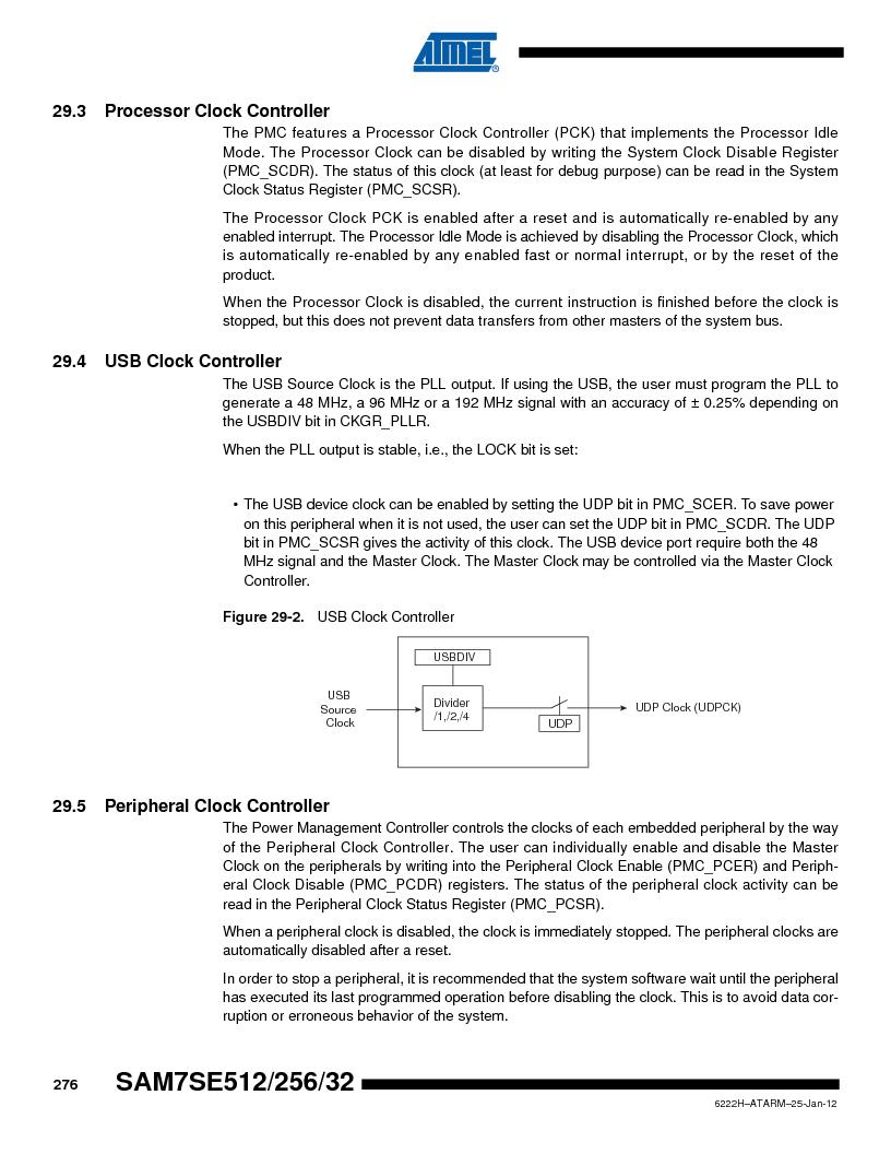 AT91SAM7SE256B-CUR ,Atmel厂商,IC ARM7 MCU FLASH 256K 128-LQFP, AT91SAM7SE256B-CUR datasheet预览  第276页