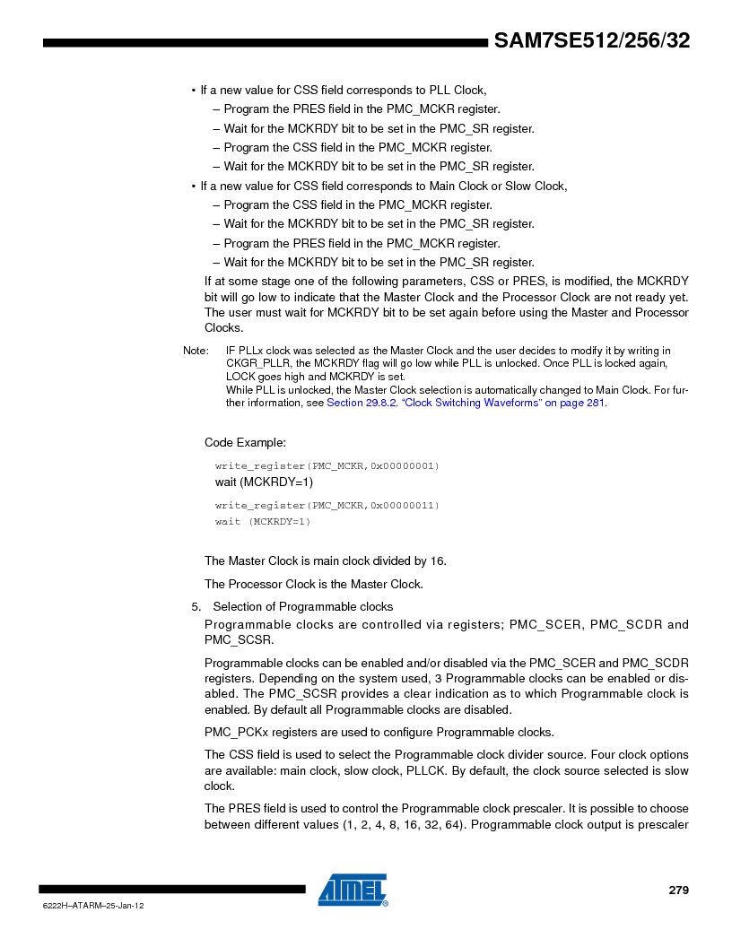 AT91SAM7SE256B-CUR ,Atmel厂商,IC ARM7 MCU FLASH 256K 128-LQFP, AT91SAM7SE256B-CUR datasheet预览  第279页